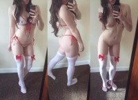 Very sexy naked nurse girl make hot selfie
