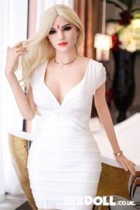 Fiona 165cm #93 Big Eyes Long Blonde Hair Pretty Sex Doll