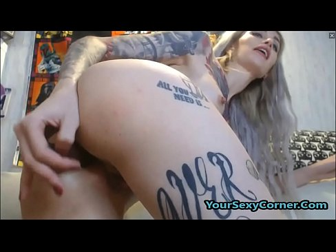 Fully Tattooed Blonde Emo Teen Ready For Hard DP