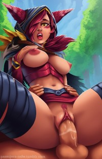 Xayah Sexy Redhead Monster Girl from League Of Legends Collection