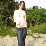 Korean girl nude in public #16
