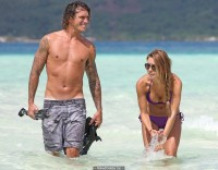 Audrina Patridge in bikini on vacation in Bora Bora
