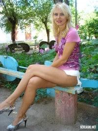 Ładna blondynka z portalu randkowo-erotycznego