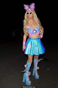 Paris Hilton sexy at Casamigos Halloween party