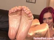 Amazing Footjob in Fucked Feet Scene! –