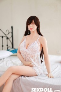 Chester 165cm #110 Brown Long Hair Eyes Closed Silicone Sex Doll