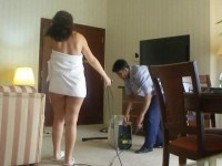 Half naked Arab slut wife teases another hotel worker – Myhotwifetube