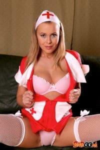 Naughty Blonde Nurse like it hot & hard