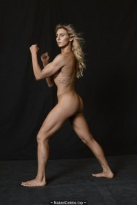 Charlotte Flair nude on a ring