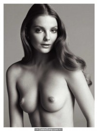 Eniko Mihalik topless for V Magazine