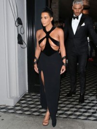 Kim Kardashian almost topless in sexy thong dress | Celebs Dump