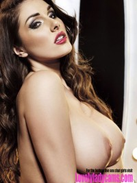 Brunette babe with massive tits