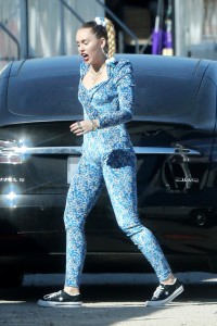Miley Cyrus Pussy Print Bodysuit