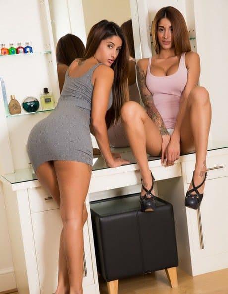 Nude Hot lesbian girls Preeti Priya flash naked upskirt big boobs while petting – Sex Pics